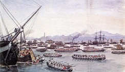 British assault on Canton during the First Opium War, May 1841
