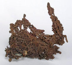 Native copper with cuprite from the Ray Mine near Kearny