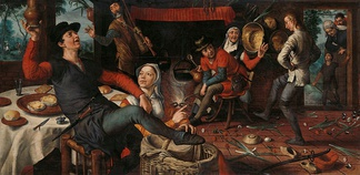 Pieter Aertsen,  The Egg Dance (1557)