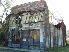 The remains of Bryant's Grocery and Meat Market in 2009