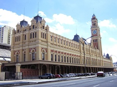 Luz Station in São Paulo, Brazil. Since 2006, is also the seat of Museum of the Portuguese Language.