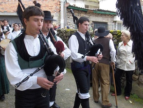 Traditional Galician gaiteiros