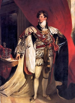 Portrait in Garter robes by Lawrence, 1816