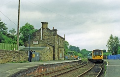 Glaisdale station, with train 1997