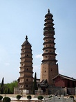 Haihui Temple Pagodas, built in the Ming period.