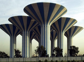 The Kuwait Water Towers in Kuwait City
