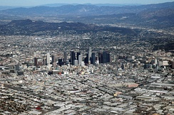 Downtown Los Angeles, the central business district of the region
