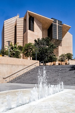Cathedral of Our Lady of the Angels is the mother cathedral for the Los Angeles archdiocese.