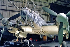 German Bf 110G-4 night fighter with nose-mounted radar at the RAF Museum in London