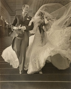 Cyril Ritchard and Madge Elliott's wedding photo, 1935