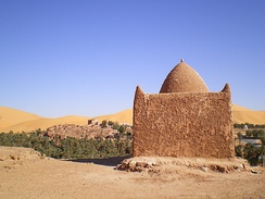 Zawiya at the entrance of Taghit, Algeria