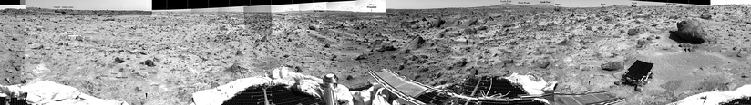 Panorama of rocks near the Sojourner Rover (July 10, 1997).