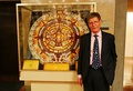 Observatory Director Ed Krupp and the Mayan Calendar Exhibit