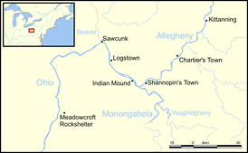 Meadowcroft Rockshelter and other Native American points of interest, Southwestern Pennsylvania