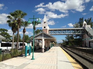 Opa-locka station features Moorish Revival architecture similar to historic buildings in Opa-locka.