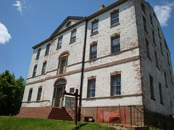 Proprietary House in Perth Amboy, where Franklin lived as governor