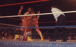 Savage wrestling The Ultimate Warrior, who retired him at WrestleMania VII