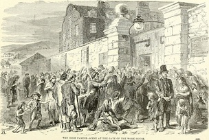 Scene at the gate of the workhouse, c. 1846
