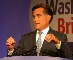 Romney speaking in October 2007 before the Values Voter Summit in Washington, D.C..