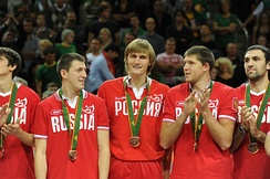 Russia won Bronze medals