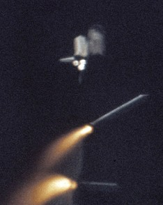 Solid Rocket Booster (SRB) separation