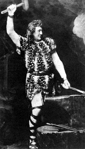 The title character from a 19th-century performance of Wagner's opera Siegfried