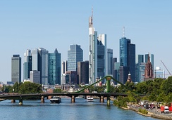 Frankfurt is a leading business centre in Europe and seat of the ECB.