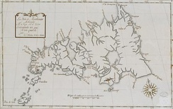 An old Spanish map of Mindanao island.