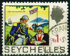 1969 stamp commemorating the British occupation of 1794
