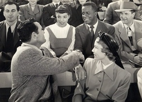 Ruby Dee and Joel Fluellen (center) inThe Jackie Robinson Story (1950)