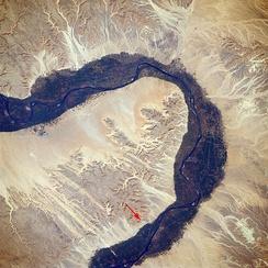 Локация Долины Царей из космоса