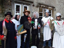 Weston Mummers perform at the Packhorse Inn, Southstoke on Boxing Day, 2007.