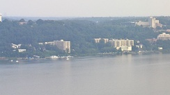 High-rise apartments along the Hudson River in Northwest Yonkers