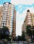 Buildings at the Khalturinsky lane at the intersection with Pushkin street, Rostov-on-don