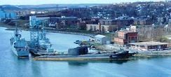 CFB Halifax serves as the headquarters for Royal Canadian Navy units from Maritime Forces Atlantic.