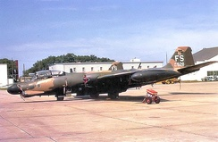 8th Bombardment Squadron Martin B-57B-MA 53-928, 1974 after its return to the United States