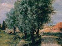 Building Site with Willows, 1846