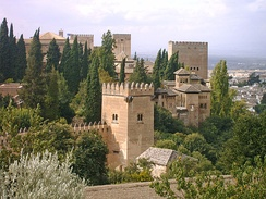Irving lived at the Alhambra Palace while writing some of the material for his book.