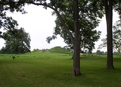 View of Mound A, narrow end