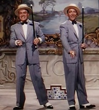 "Bob Hope and Bing Crosby sing and dance during ""Chicago Style"" in Road to Bali (1952)"