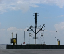 Optical telegraph in the harbour of Bremerhaven, Germany