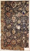 Mughal carpet with vases