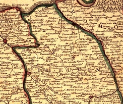 Map of Lieuvin, 1716