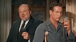 Ives (left) with Paul Newman in Cat on a Hot Tin Roof