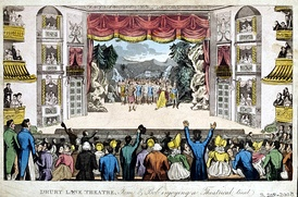 Theatre Royal, Drury Lane, London, circa 1821