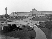 General view of The Crystal Palace at Sydenham by Philip Henry Delamotte, 1854