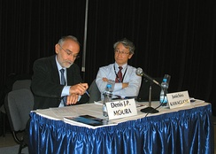 Denis J. P. Moura (left) and Junichiro Kawaguchi (right) at the 2010 International Astronautical Congress (IAC)
