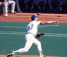 Dave Stieb has the second-highest number of wins among pitchers in the 1980s.