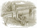 The Dee bridge after its collapse, 24 May 1847