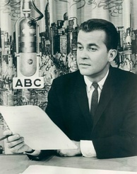 "Photo of Clark in 1963. His ABC radio show was called ""Dick Clark Reports""."